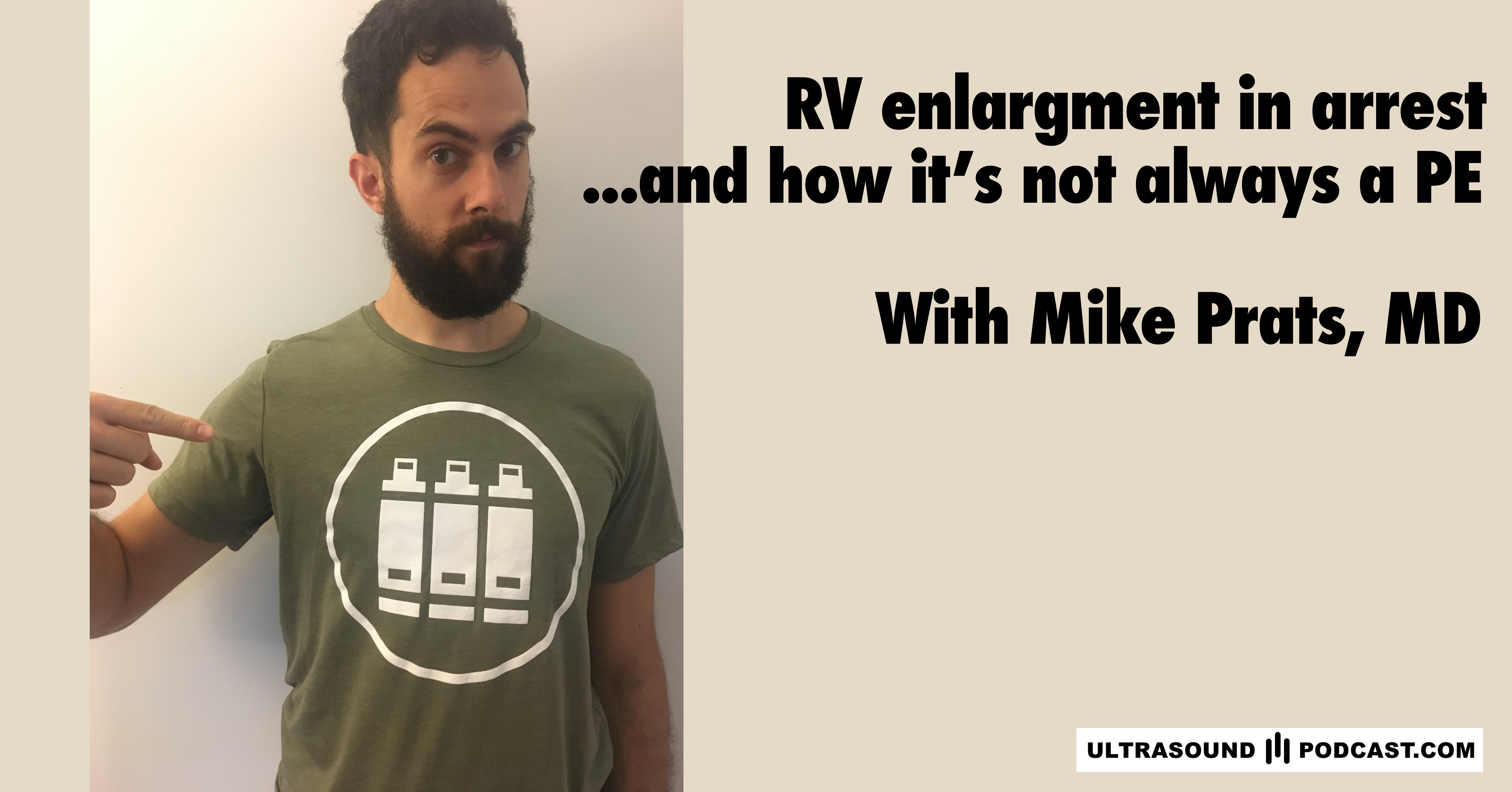 RV enlargement in arrest, and how it's not always a PE